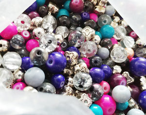 Glass Beads Assorted Glass Beads Assorted Beads 5mm to 10mm Beads 10mm Glass Beads BULK Beads Large Lot Mixed Beads Metal Beads 50 pieces