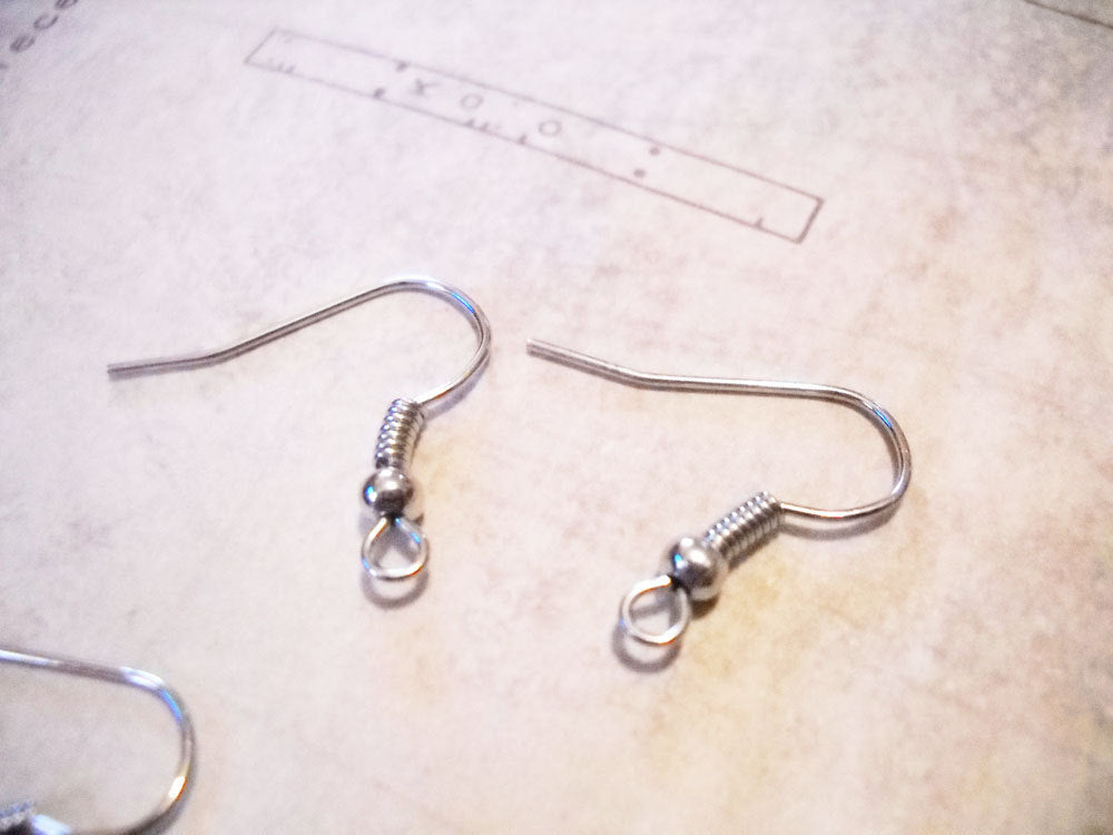 Stainless Ear Wires Stainless Steel Ear Wires Stainless Earwires Earring Findings Earring Hooks Stainless Steel Wire Stainless Hooks 10pcs