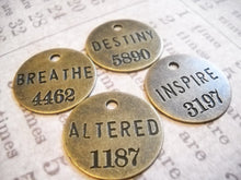 Load image into Gallery viewer, Word Charms Pendants Inspirational Charms Assorted Charms Copper Silver Bronze Philosophy Tags Bulk Charms Wholesale Charms 396 pieces PRE