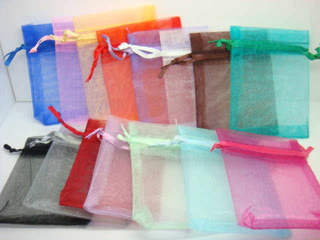 Organza Bags Gift Bags Party Bags Jewelry Bags Gifting Bags Wholesale Organza Bags Assorted Bags 100 pieces 4.75