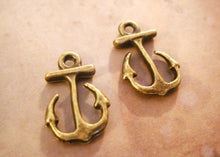 Load image into Gallery viewer, Anchor Charms Bronze Anchor Charms Anchor Pendants Ocean Charms Sea Charms Bronze Charms Nautical Charms 10 pieces