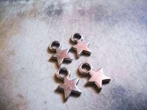 Silver Star Charms Miniature Charms Miniature Stars Tiny Star Charms Wholesale Charms Celestial Charms Tiny Charms 10 pieces