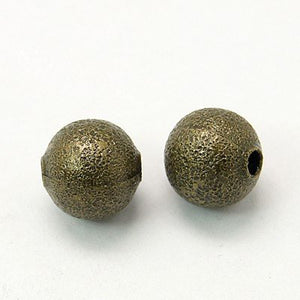 Bronze Beads 8mm Metal Beads Brass Beads Stardust Beads 8mm Beads Brass Metal Beads 10 pieces