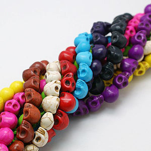 Skull Beads Halloween Beads Bulk Beads Wholesale Beads Assorted Beads 9x8 20 Strands 800 pieces