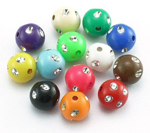 Bulk Beads Wholesale Beads Bling Beads Assorted Beads Large Lot 50pcs 8mm Beads Acrylic Beads in Bulk Assorted Colors