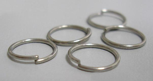 8mm Open Jump Rings Unsoldered Split Rings Bulk Set Antiqued Silver Sold per pkg of 100