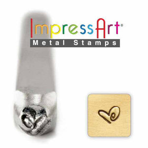 Metal Stamping Heart Stamp ImpressArt Heart Shaped Stamp Stamping Tools Impressart Stamp Design Stamp 3mm Stamp Boogie Heart