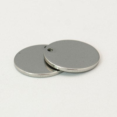 Metal Stamping Blanks Silver Circle Blanks Engraving Blanks Silver Blanks Blank Charms Stainless Steel 13mm Blank Charms 10 pieces
