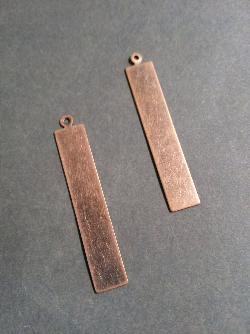 Metal Stamping Blanks Antiqued Copper Blank Charms Pendants Metal Rectangle Tag Blanks 5 pieces 41mm