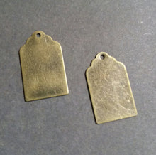 Load image into Gallery viewer, Metal Stamping Blanks Blank Charms Metal Tag Charms Bronze Blanks Hand Stamping Metal Tags Brass Blanks Tag Stamping Blank 4 pieces