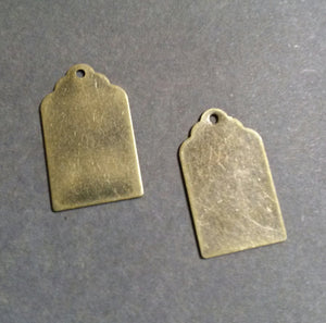 Metal Stamping Blanks Blank Charms Metal Tag Charms Bronze Blanks Hand Stamping Metal Tags Brass Blanks Tag Stamping Blank 4 pieces
