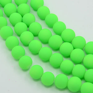 Neon Green Beads Neon Beads 4mm Beads 4mm Glass Beads Rubber Beads Green Glass Beads Wholesale Beads BULK Beads 4mm Green Beads 200 pieces