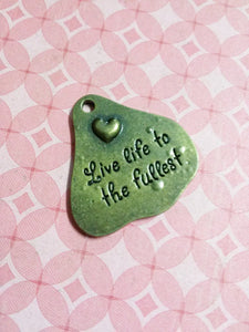 Word Charms Pendants Quote Charms Antiqued Bronze Inspirational Word Charms Live Life To The Fullest