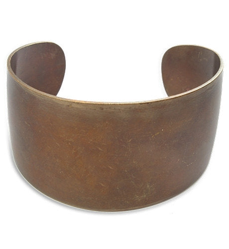 Cuff Bracelet Blank Wide Cuff Bracelet Vintaj Natural Brass Layering Bangle Thick Cuff Bracelet Stamping Blank 18 Gauge Made in USA PREORDER