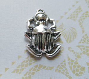 Scarab Charm Scarab Pendant Egyptian Pendant Egypt Pendant Silver Scarab Charm Ancient Egypt Beetle Charm Insect Charm