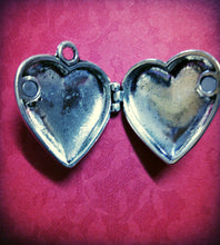 Load image into Gallery viewer, Locket Pendant Photo Locket Quote Locket Heart Locket I Carry Your Heart With Me Antiqued Silver Heart Pendant Heart Charm