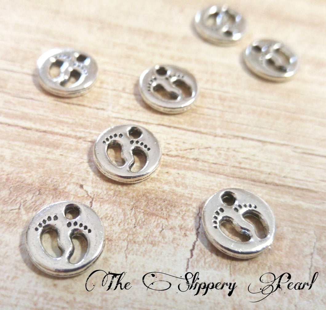 Baby Feet Charms Baby Charms Pendants Assorted Colors Baby Shower Favors Baby Shower Decorations 10 pieces 11mm