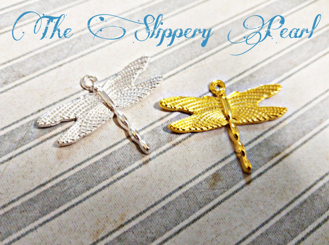 Dragonfly Charms Dragonfly Pendants Silver Gold Assorted Charms Dragonflies Insect Charms Bug Charms Spring Charms Steampunk Charms