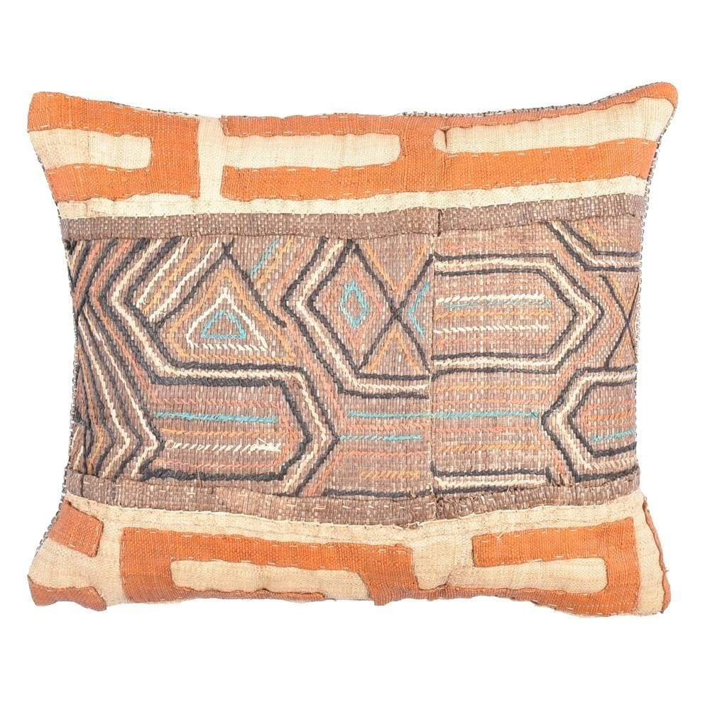 African Kuba Cloth Pillow - BENISOUK