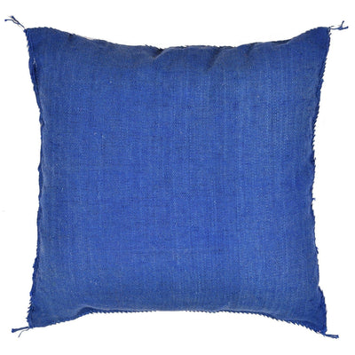 Blue Cactus silk Sabra Pillow - BENISOUK