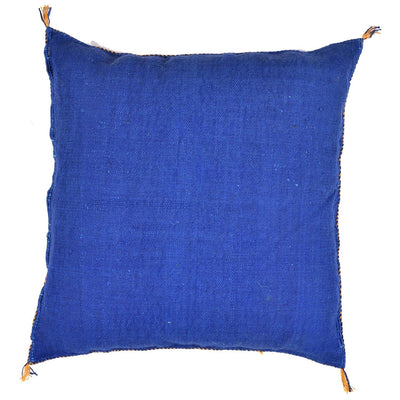 Blue Cactus silk Sabra Pillow - Moroccan Furniture