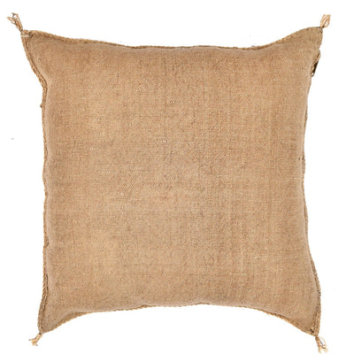 Brown Cactus silk Sabra Pillow - BENISOUK