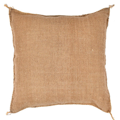 Brown Cactus silk Sabra Pillow - Moroccan Furniture