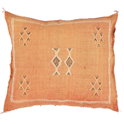 Peach Cactus silk Sabra Pillow - BENISOUK