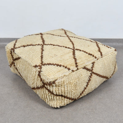 Square Beni ourain Floor Pillow - BENISOUK
