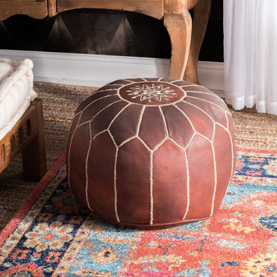 The Authentic Moroccan Leather Pouf - BENISOUK