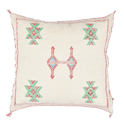 White Cactus silk Sabra Pillow - BENISOUK