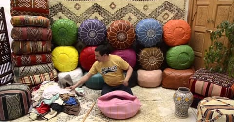 4 Ways to use a Moroccan Leather Pouf