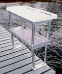 Fish Cleaning Tables - 4 Legs