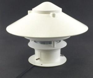 "Focus Industries® 7W LED MR16 80° VWFL, CAST ALUM 2 TIER PAGODA 10"", DECK PEDESTAL LIGHTING, WHT GLOSS"