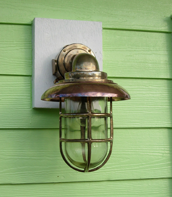 Hydra™ Large 90 Degree Passageway Light - Bronze with Copper Hood