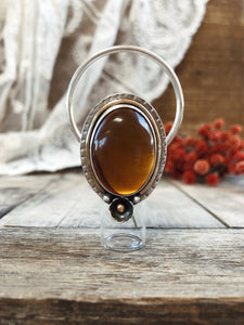 ➖V E R O N A➖ Sterling Silver Rollerball Necklace with Amber