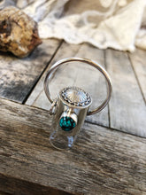 Load image into Gallery viewer, ➖S A C R E D  S P I R I T➖ Sterling Silver Baby Baller Rollerball Necklace with Hubei Turquoise