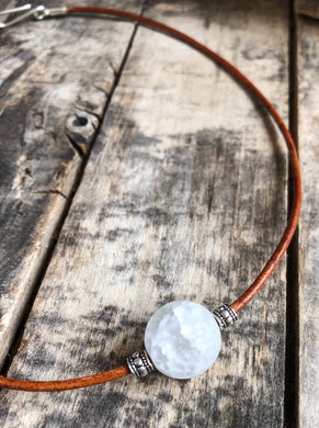 Rising Moon Necklace with silver accents