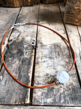 Load image into Gallery viewer, Rising Moon Necklace with silver accents