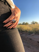 Load image into Gallery viewer, Sterling Silver Lava Stone Diffuser Ring
