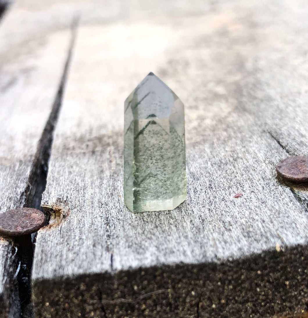 B.Y.O.B. Stone #1 Green Phantom Mini Quartz Point