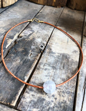 Load image into Gallery viewer, Rising Moon Necklace with brass clasp