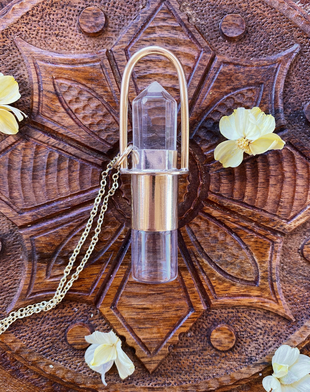 Pre-Order RSA Rollerball Necklace with Quartz