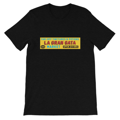 Dimension 20 The Unsleeping City La Gran Gata Bodega T-Shirt