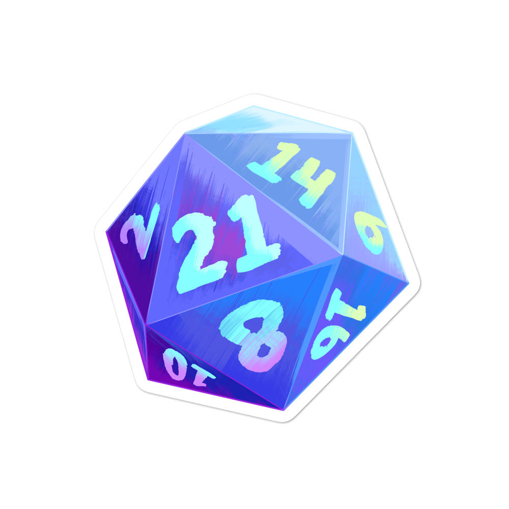Um, Actually 21 Sided Dice Sticker