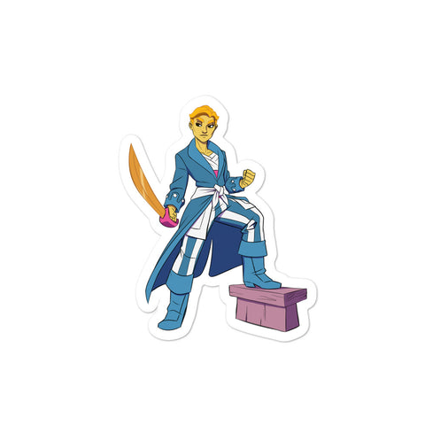 Dimension 20 A Crown of Candy Captain Annabelle Cheddar Character Sticker