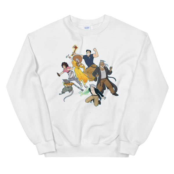 Dimension 20 The Unsleeping City Intrepid Heroes Crew Sweatshirt