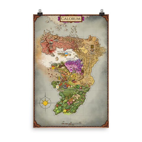 Dimension 20 A Crown of Candy Map of Calorum Poster