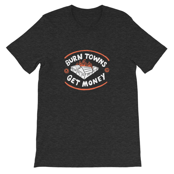 Dimension 20 Fantasy High Burn Towns, Get Money T-Shirt