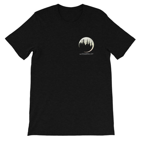 DIMENSION 20: The Unsleeping City Small Logo Tee